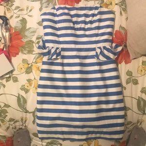 Lily Pulitzer strapless striped dress